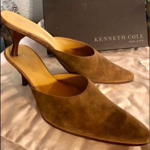 Kenneth Cole Brown Suede Mules - size 9 1/2